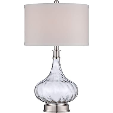 Quoizel Q1702TBN Incandescent Table Lamp, Brushed Nickel