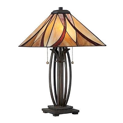 Quoizel TF1180TVA CFL Table Lamp, Valiant Bronze
