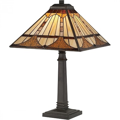 Quoizel TF1246TVB CFL Table Lamp, Vintage Bronze