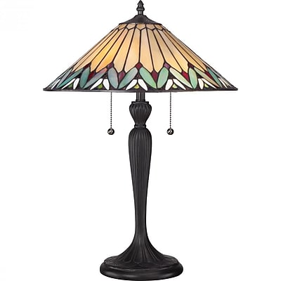 Quoizel TF1433T CFL Table Lamp, Bronze Patina