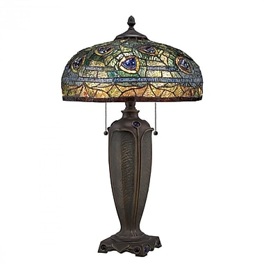 Quoizel TF1487T CFL Table Lamp, Authentic Bronze