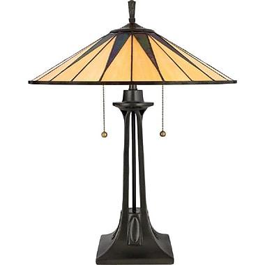 Quoizel TF6668VB Incandescent Table Lamp, Vintage Bronze