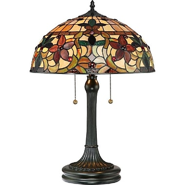 Quoizel TF878T Incandescent Table Lamp, Vintage Bronze