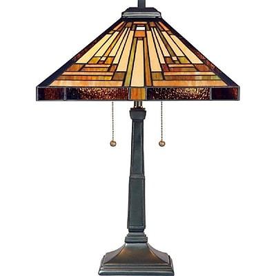 Quoizel TF885T Incandescent Table Lamp, Vintage Bronze