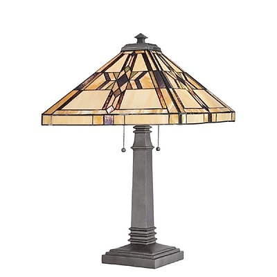 Quoizel TF961TVB Incandescent Table Lamp, Vintage Bronze