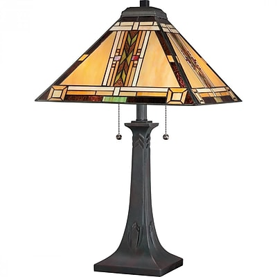 Quoizel TFNO6325VA CFL Table Lamp, Valiant Bronze