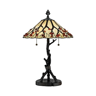 Quoizel AG711TVA Incandescent Table Lamp, Valiant Bronze