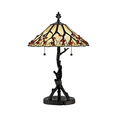 Quoizel AG711TVA Incandescent Table Lamp, Valiant Bronze