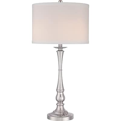 Quoizel VVAM6130BN Compact Fluorescent Table Lamp, Brushed Nickel