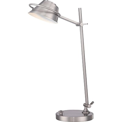 Quoizel VVSP6222BN Compact Fluorescent Table Lamp, Brushed Nickel