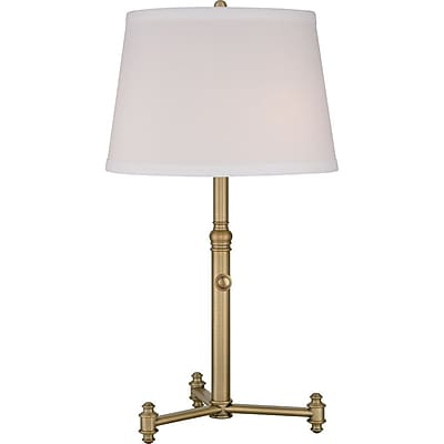 Quoizel VVSY6129AB Compact Fluorescent Table Lamp, Aged Brass