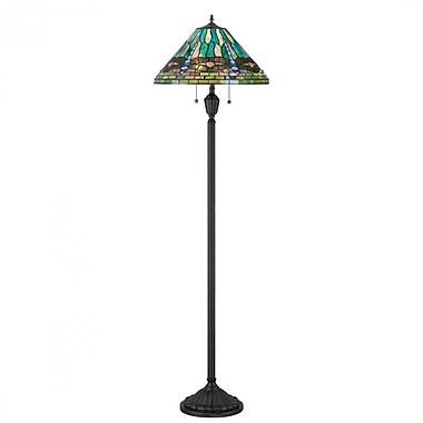Quoizel TF1508FVB CFL Floor Lamp, Vintage Bronze