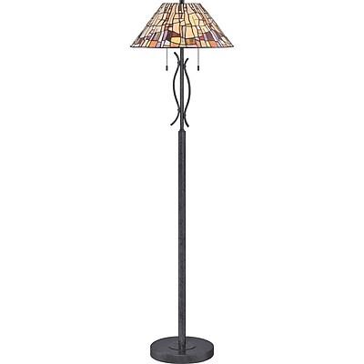 Quoizel TF1693FVK Compact Fluorescent Floor Lamp, Vintage Black