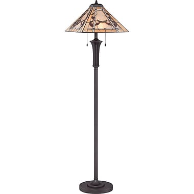 Quoizel TF1697FWT Compact Fluorescent Floor Lamp, Brown