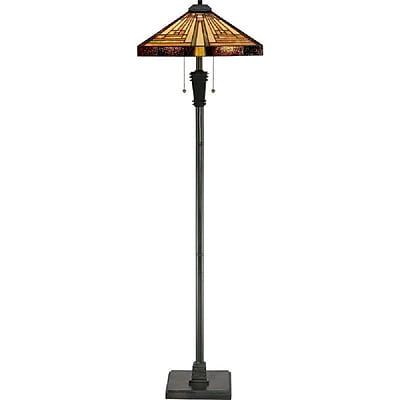 Quoizel TF885F Incandescent Floor Lamp, Vintage Bronze
