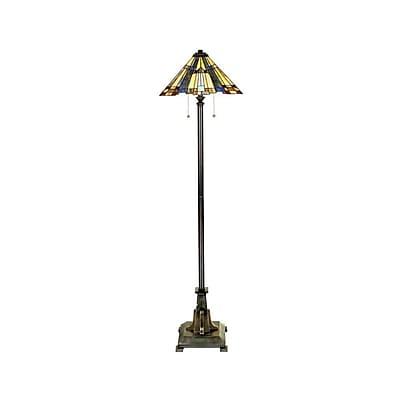 Quoizel TFF16191A5VA Incandescent Floor Lamp, Valiant Bronze