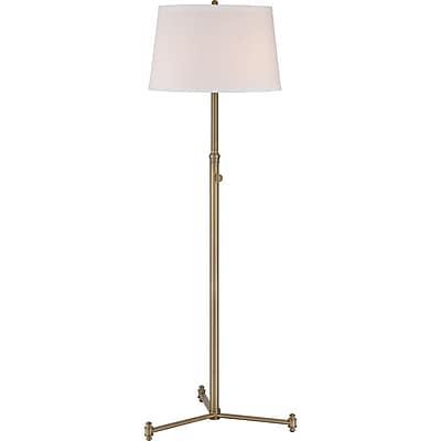 Quoizel VVSY9358AB Compact Fluorescent Floor Lamp, Aged Brass