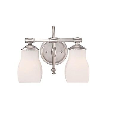 Quoizel CLE8602BN Incandescent Vanity Light, Brushed nickel