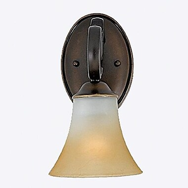 Quoizel DH8601PN Incandescent Vanity Light, Palladian Bronze/Brown Shade