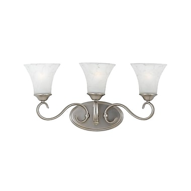 Quoizel DH8603AN Incandescent Vanity Light, Antique Nickel/White Shade
