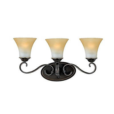 Quoizel DH8603PN Incandescent Vanity Light, Palladian Bronze/Brown Shade
