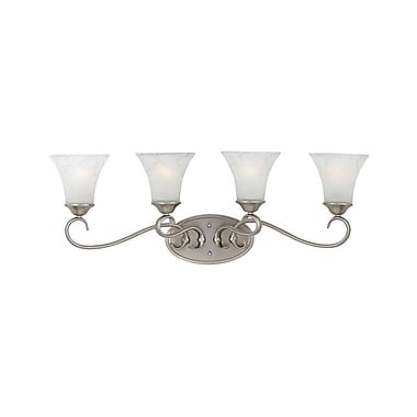 Quoizel DH8604AN Incandescent Vanity Light, Antique Nickel/White Shade