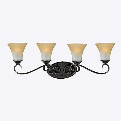 Quoizel DH8604PN Incandescent Vanity Light, Palladian Bronze/Brown Shade