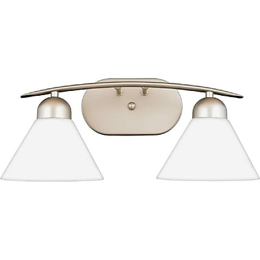 Quoizel DI8502ES Incandescent Vanity Light, Empire Silver