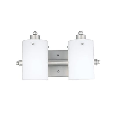 Quoizel AN8539ES Incandescent Vanity Light, Empire Silver