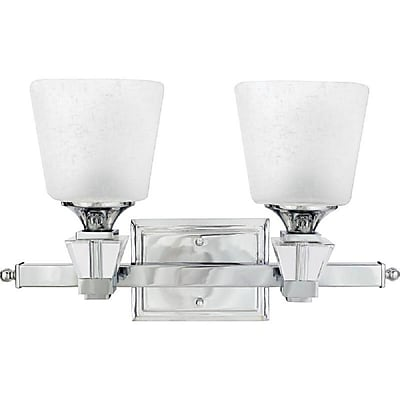 Quoizel DX8602C CFL Vanity Light Lamp, Polished Chrome