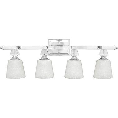 Quoizel DX8604C CFL Vanity Light Lamp, Polished Chrome