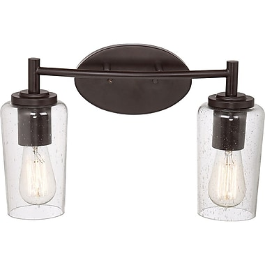 Quoizel EDS8602WT CFL Vanity Light Lamp, Western Bronze