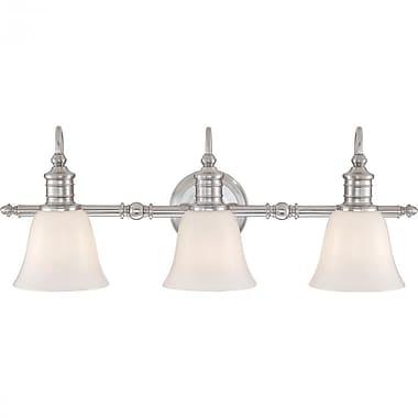 Quoizel BGT8603BN CFL Vanity Light, Brushed Nickel