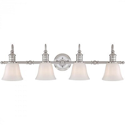 Quoizel BGT8604BN CFL Vanity Light, Brushed Nickel