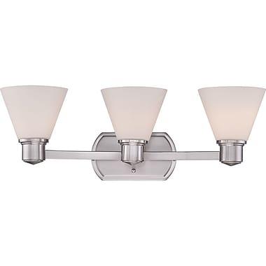 Quoizel AYR8603BN CFL Vanity Light, Brushed Nickel