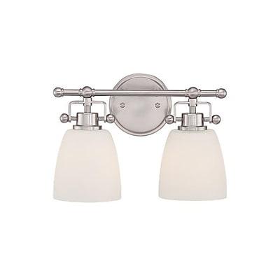 Quoizel BWR8602BN CFL Vanity Light, Brushed Nickel