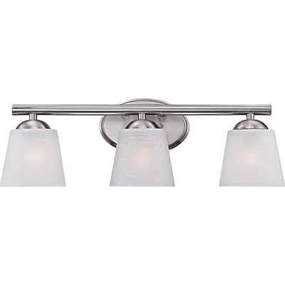 Quoizel STE8603BN CFL Vanity Light Lamp, Brushed Nickel