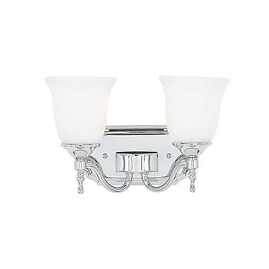 Quoizel TT8602C CFL Vanity Light Lamp, Polished Chrome