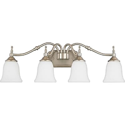 Quoizel TT8604BN CFL Vanity Light Lamp, Brushed Nickel