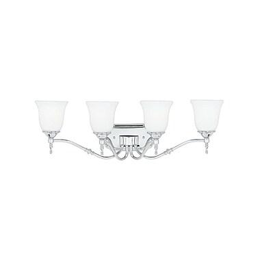 Quoizel TT8604C CFL Vanity Light Lamp, Polished Chrome