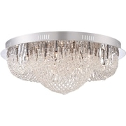 Quoizel EMP1616C Xenon Flush Mount, Polished Chrome