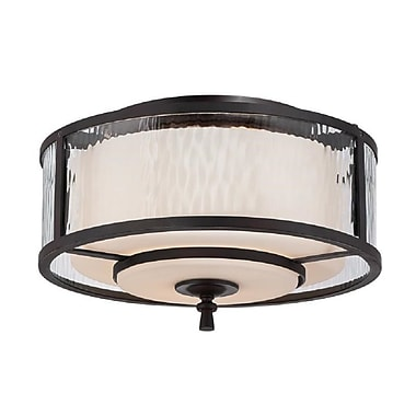 Quoizel ADS1615DC Incandescent Flush Mount, Dark Cherry