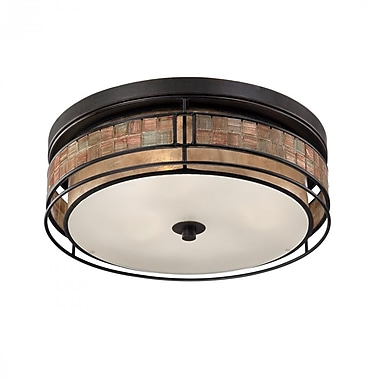 Quoizel MCLG1616RC Incandescent Flush Mount, Renaissance Copper
