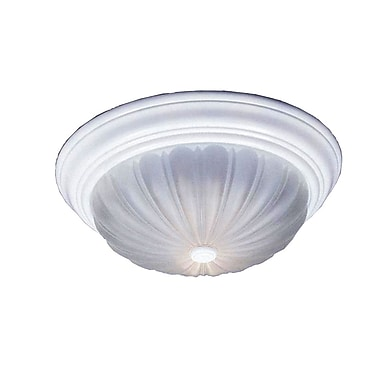 Quoizel ML183W Incandescent Flush Mount, Fresco