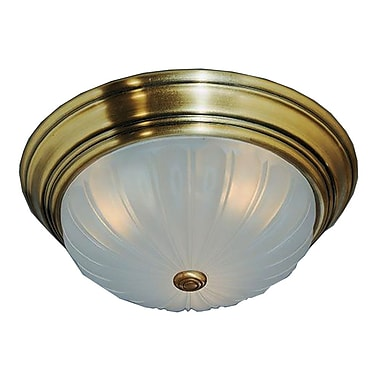 Quoizel ML184A Incandescent Flush Mount, Antique Brass