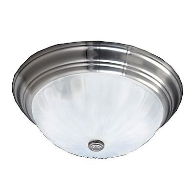 Quoizel ML184ES Incandescent Flush Mount, Empire Silver
