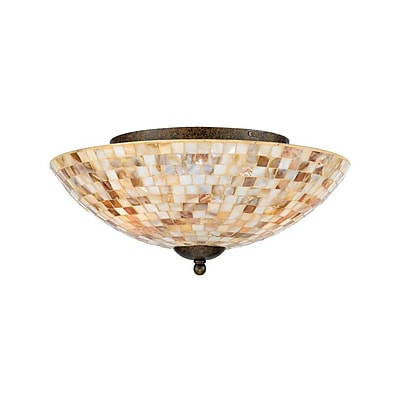 Quoizel MY1613ML Incandescent Flush Mount, Malaga