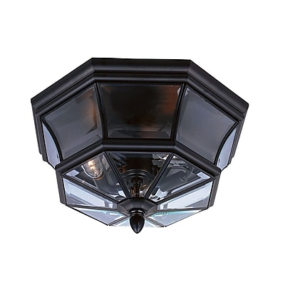 Quoizel NY1794K Incandescent Flush Mount, Mystic Black
