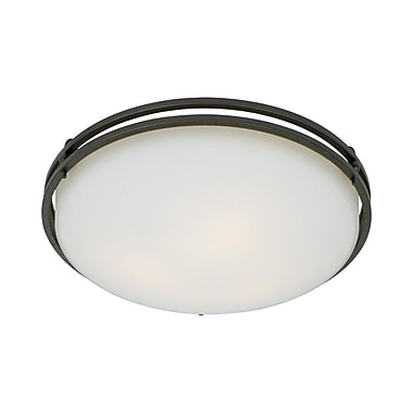 Quoizel OZ1616IN Incandescent Flush Mount, Iron Gate