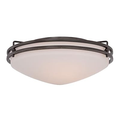Quoizel OZ1616PN Incandescent Flush Mount, Palladian Bronze